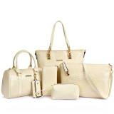 Price Women S Minimalist Stylist 6 Piece Bags Beige Beige Oem New