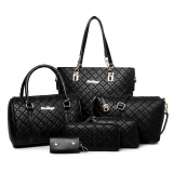 Sale Women S Minimalist Stylist 6 Piece Bags Black Plaid Black Plaid On China