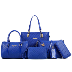 Best Buy Women S Minimalist Stylist 6 Piece Bags Wave Pattern Blue Wave Pattern Blue