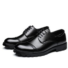 Top Rated 2017 Elegant Men Business Shoes Men Wedding Shoes Mens Formal Derby Dress Formal Meeting Shoes Intl