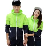 Wholesale 2017 Fashion Lovers Windbreaker Outdoor Sport Thin Jacket Windbreaker Waterproof Quick Dry Hiking Jackets 911 Fluorescent Green Intl