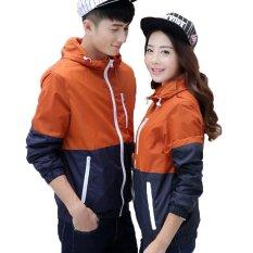 Sale 2017 Fashion Lovers Windbreaker Outdoor Sport Thin Jacket Windbreaker Waterproof Quick Dry Hiking Jackets 911 Orange Intl Fancy Fashion Original