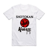 Best Offer 2017 Fashion Men Print Japanese Kanji Shotokan Karate T Shirt O Neck Short Sleeves Summer Taijutsu Martial Mma Tops Tees Swag White Intl