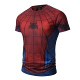 2017 Fashion Men T Shirts Marvel Super Hero Summer Fitness Clothes Top Technology 3D Print Men Gyms Tight T Shirt Intl Coupon Code
