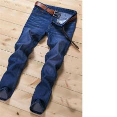 2017 High Quality Men S New Fashion High Quality Thick Jeans Slim Straight Pants 28 Light Blue Lower Price