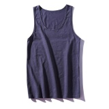 Buy 2017 Korea Style Summer Plain Sleeveless Tanks Denim Blue Intl Online
