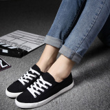 Best Buy Yuanbu Women S Korean Style Solid Color Casual Sneakers Black White Black Black