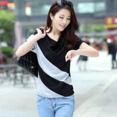 Loose Korean Long Top Black Gray Short Sleeve Black Gray Short Sleeve Online