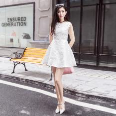 Cheap Women S Korean Style Slim Fit High Waisted Sleeveless Mini A Line Dress