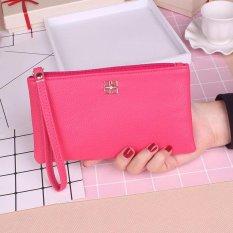 2017 Long Purse Fashion Students Handbags PU Phone Wristlets Size 19*9*2cm rose red - intl