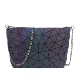 Buy Luminous Matte Rhombus Geometric Women S Messenger Bag Women S Bag Irregular Chain Bag Irregular Chain Bag Cheap On China