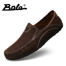 Peas Soft Bottom Deodorizing Middle Aged Driving Shoes Men S Breathable Casual Shoes Dark Brown Dark Brown Best Price