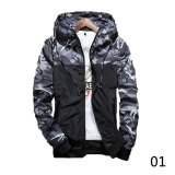 2017 Men S Fashion Camouflage Coat Hoodies Casual Jacket Clothing Windbreaker Male Outwear M 5Xl Black Gray Intl Sale
