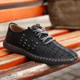 Where Can You Buy 2017 New Arrival Genuine Leather Luxury Brand Summer Men Casual Shoes High Quality Breathable Holes Intl