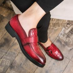 Compare Price 2017 New Arrival Men Luxury Brand Flats Formal Dress Single Monk Buckle Straps Wedding Brogues Shoes Intl Oem On China