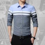 Low Price 2017 New Brand Shirts Casual Men Shirt Slim Fit Long Sleeve Social Shirt High Quality Men Fashion Design Shirt Grey Intl