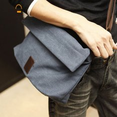 2017 New Canvas Bag Men Shoulder Bag Messenger Cross Tide Male Blue Intl China