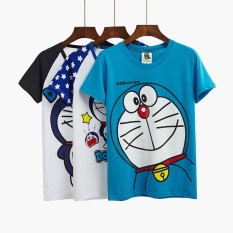 Compare Price 2017 New Couples Dress Summer T Shirt Doraemon Female Korean Students Cartoon Jingle Cats Loose Short Sleeved Clothes Intl On China