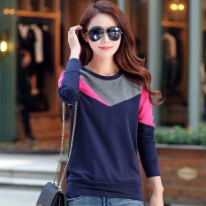 Where Can You Buy Korean Style New Style Base Small Shirt Navy Blue Gray Rose