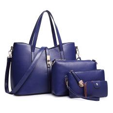 Price Comparisons Ladies Europe Fashion Leather Hadbag Dark Blue