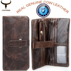 6f8178b5ef COWATHER Men Wallets Purses 100% Cow Genuine Leather Wallets for Men Card  Holder Coin Purse