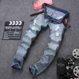 Buy 2017 New Fashion Men S Long Jeans Boy Hole Mature Casual Denim Jeans Trousers Tight Pants Men Short Jeans Robin Hole Cool Loose Pants Denim Male Ripped Hol 05 Blue Intl Online