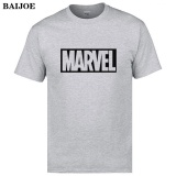 2017 New Fashion Mens T Shirt Marvel Cotton Short Sleeves Casual Male Tshirt Grey Intl Lowest Price