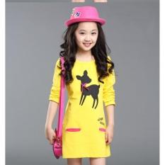 Sale 2017 New Girls Wear Long Sleeved Shirt T Shirt Long Paragraph Dress Intl On China