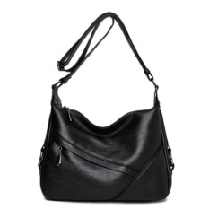 Where Can You Buy 2017 New Korean Version Of The Women S Shoulder Bag Messenger Bag Middle Aged Ladies Package Soft Leather Simple Wild Black Intl