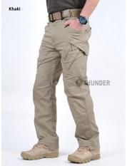 2017 New Men Casual Cotton Pockets Pants Ix9 Militar Tactical Cargo Pants Combat Swat Army Train Military Pants Xl Khaki Sale