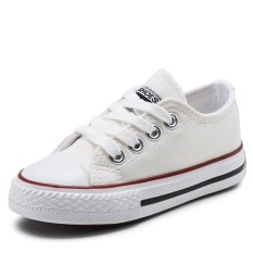 Sale 2017 New Spring And Autumn Kids Canvas Shoes Low Top Skateboard Shoes Slip Ons Sports Shoes Boys Casual Shoes Girls Fashion Sneakers L17205 White Intl China