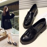2017 New Spring Autumn British Style Casual Flats Women Shoes Solid Fringe Ladies Tassel Loafers Slip On Single Shoes L17195 Black Intl China
