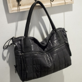 Purchase New Style Shoulder Dumplings Korean Style Nylon Canvas Big Bag Quilted Cloth Large