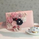 Best Fang Korean New Pearl Chain Crossbody Bag 花朵包 607 Pink 607 Pink