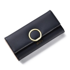 2017 New Style Lady Women Clutch Long Purse Leather Wallet Card Holder Bags Black Intl Coupon Code