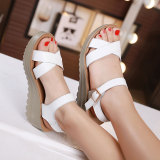 Best Rated Roman Leather Women With Casual Shoes Sandals White