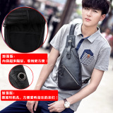 Wholesale 2017 New Style Sports Casual Chest Pack Man Bag Korean Style Tide Cross Bag Small Bag Men S Messenger Bag Shoulder Bag Backpack The New Version Of Black Multi Compartment Headset Hole 6322