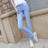 Get Cheap 2017 New Style Spring Summer Skinny Jeans Female Trousers Slim Elastic Jeans Pencil Denim Pants Tide Light Blue Intl