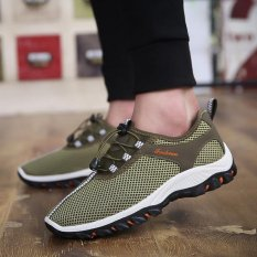 Price Compare 2017 New Summer Breathable Men S Shoes Men S Leisure Mesh Running Shoes Green
