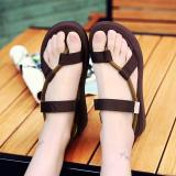 2017 New Summer Sandals Beach Men Women Vietnamese Shoes Authentic Flat Sandals Fashion Couples Female Rubber Sole Shoes Brown Intl Best Buy