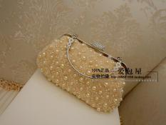 Women S Pearl And Rhinestone Clutch Beige 369 With Handle Beige 369 With Handle Oem Discount