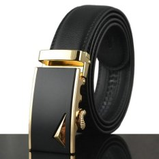 Price Real Leather Belt Luxury Men S Belt Automatic Buckle Hot Designer Leather Belt For Men Black 110 130Cm Cowhide Brand Belt Men Kb 85 Online China
