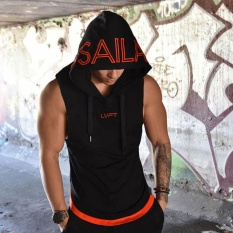 Purchase 2018 Singlets Mens Fitness Crossfit Tank Tops Muscle Brother Male Vest Men S Sleeveless Hooded Bodybuilding Gyms Clothes Intl