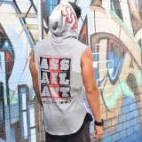 Buy 2018 Singlets Mens Fitness Crossfit Tank Tops Muscle Brother Male Vest Men S Sleeveless Hooded Bodybuilding Gyms Clothes Intl Cheap China