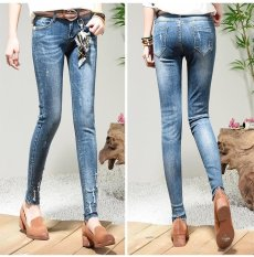 Discount 2017 Skinny Denim Jeans For Women With Belt Waist 31 Intl