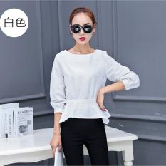 How Do I Get Slimming Effect Long Sleeved Autumn Top Korean Style Shirt White White