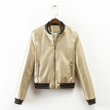 Sale European And American Gold Spring New Style Short Paragraph Jacket Bomber Jacket China