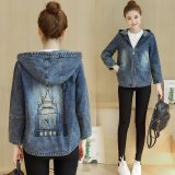 Female Spring And Autumn New Style Loose Top Denim Jacket For Sale