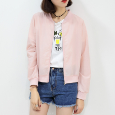 Review Bf Spring And Summer Plus Sized Baseball Clothes Airable Shirt Sun Protection Clothing Pink Have Pocket Pink Have Pocket Oem