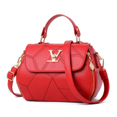 Price 2017 Spring And Summer New Style Female Bag Portable Small Bag Day Korean Style Simple V Shaped Small Square Bag Stylish Shoulder Bag Messenger Bag Dream Lock Red Color Oem Original